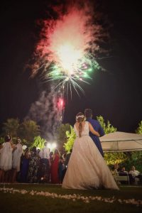 nerja wedding fireworks
